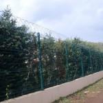 bahçe panel çit ve jiletli tel uygulaması