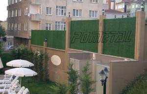 çim çit ve çim duvar site içi uygulama