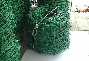 pvc kaplı dikenli tel